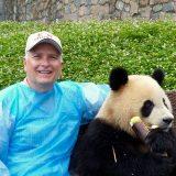 Jim with panda